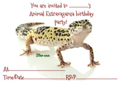invites animal extravaganza animal and reptile parties